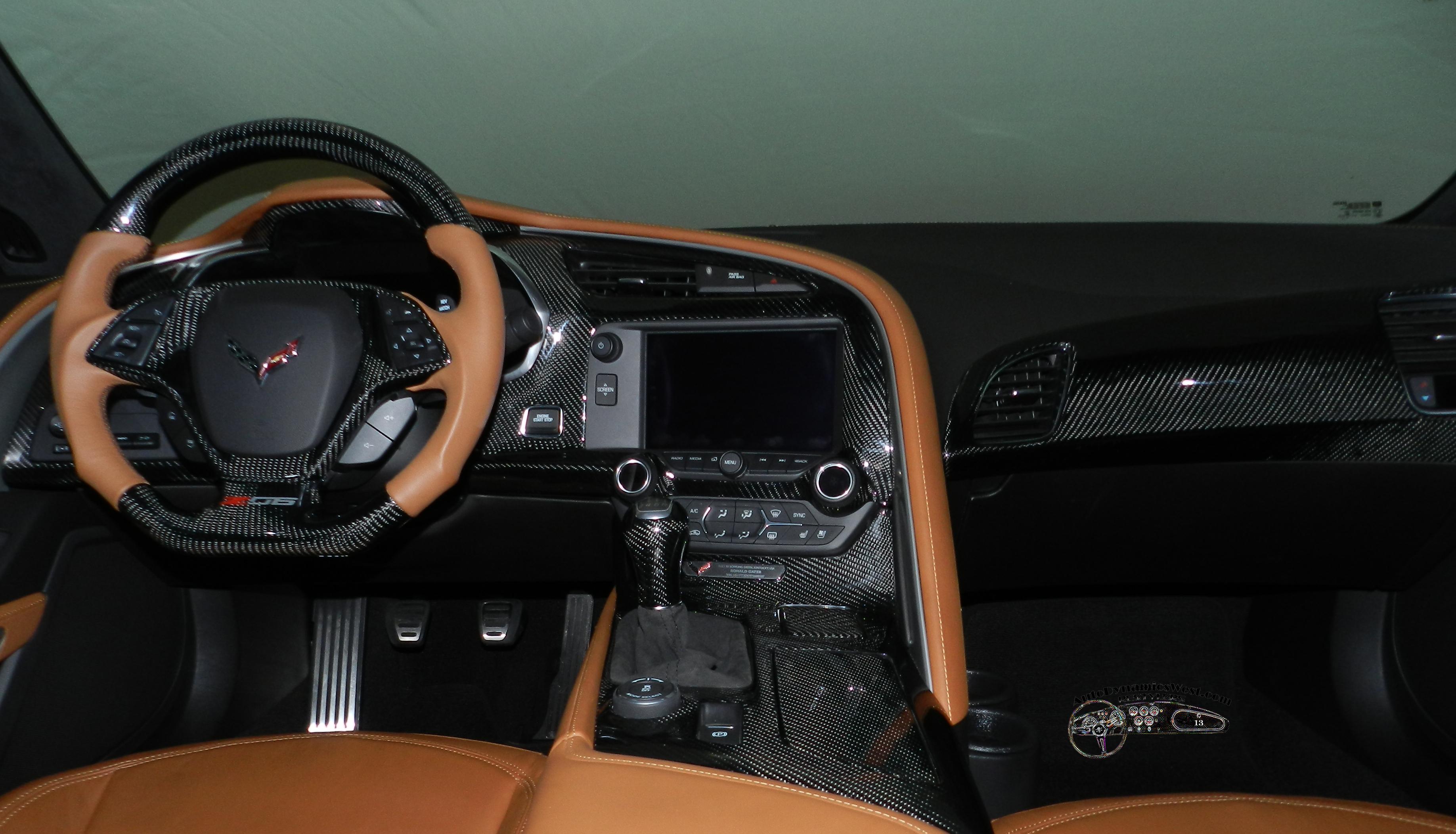 c7corvette carbon fiber interior steering wheel accessories dash