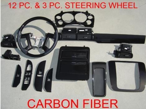 Carbon Fiber Interior Trim Tahoe Suburban Avalanche Siverado Yukon Denali Oem Dash Kit Steering