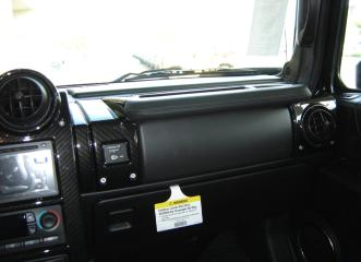 piano black hummer dash and steering wheel