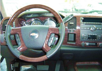 silverado wood steering wheel and dash kit interior trim package