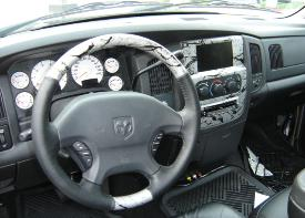 MARBLE DASH AND STEERING WHEEL