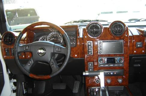 real wood dash and steering wheel hummer h2