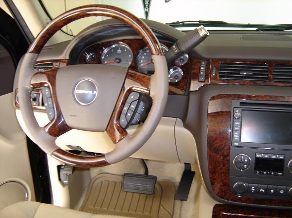 denali wood steering wheel