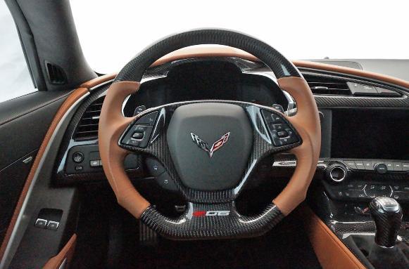C7corvette Carbon Fiber Interior Steering Wheel Accessories Dash Console