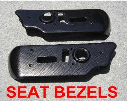 carbon fiber power seat bezels