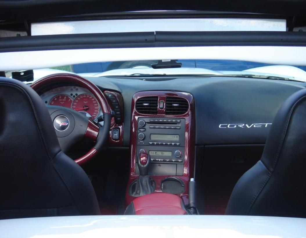 My Red Carbon X on C6 Corvette Parts